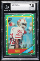 Jerry Rice 1986 Topps #161 RC (BGS 7.5) at PristineAuction.com