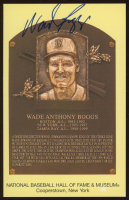 Wade Boggs Signed Hall of Fame Plaque Postcard (JSA COA) at PristineAuction.com
