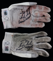 "Tim Tebow Signed Pair of Game-Used Adidas Football Gloves Inscribed ""Game Used"" (Tebow Hologram) at PristineAuction.com"