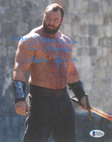 "Hafthor Julius Bjornsson Signed ""Games Of Thrones"" 8x10 Photo Inscribed ""Gregor Clegane A.K.A The Mountain"" (Beckett COA) (See Description) at PristineAuction.com"
