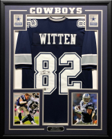 Jason Witten Signed 34.5x42.5 Custom Framed Jersey (Witten Hologram & Beckett COA) at PristineAuction.com