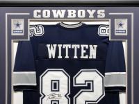 Jason Witten Signed 34.5x42.5 Custom Framed Jersey (Witten Hologram & Beckett COA) at PristineAuction.com