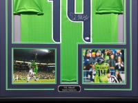 DK Metcalf Signed 34.5x42.5 Custom Framed Jersey (Beckett COA) at PristineAuction.com