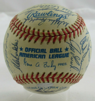1999 Yankees OAL Baseball Team-Signed by (27) with Derek Jeter, Joe Torre, Mariano Rivera, Tim Raines (JSA LOA) at PristineAuction.com