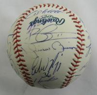 2009 Yankees OML Baseball Team-Signed by (24) with Derek Jeter, Mariano Rivera, Alex Rodriguez, Joe Girardi, Nick Swisher (JSA LOA & MLB Hologram) at PristineAuction.com