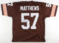 Clay Matthews Jr. Signed Jersey (Beckett COA) at PristineAuction.com