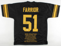 James Farrior Signed Career Highlight Stat Jersey (Beckett COA) at PristineAuction.com
