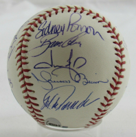 2008 Yankees OML Baseball Signed by (26) with Derek Jeter, Mariano Rivera, Mike Mussina, Andy Pettitte, Joe Girardi, Alex Rodriguez (JSA LOA) at PristineAuction.com