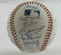 2008 Yankees OML Baseball Signed by (26) with Derek Jeter, Mariano Rivera, Mike Mussina, Andy Pettitte, Joe Girardi, Alex Rodriguez (JSA LOA) at PristineAuction.com