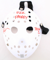 "Ari Lehman Signed ""Friday the 13th"" Mask Inscribed ""F*** Freddy"" & ""Jason 1"" (Lehman Hologram) at PristineAuction.com"