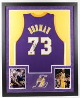 Dennis Rodman Signed Lakers 34x42 Custom Framed Jersey (TriStar Hologram) (See Description) at PristineAuction.com
