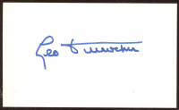 Leo Durocher Signed 3x5 Index Card (Beckett COA) (See Description) at PristineAuction.com