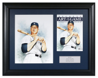 Josh Trout Signed 21x26.5 Custom Framed Mickey Mantle Artwork Display at PristineAuction.com