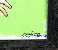 Brian Kong Signed 20x24 Custom Framed Tom Seaver Original Artwork on Canvas at PristineAuction.com