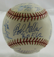 OML Baseball Signed by (14) with Bob Feller, Monte Irvin, Lou Boudreau, Fergie Jenkins, Warren Spahn (JSA LOA) at PristineAuction.com