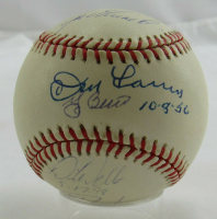 Yankees Perfect Games OAL Baseball Signed by (6) with David Cone, Joe Girardi, Don Larsen, Yogi Berra, David Wells and Jorge Posada with (3) Date Inscriptions (JSA LOA) at PristineAuction.com