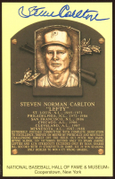Steve Carlton Signed Hall of Fame Plaque Postcard (Beckett COA) at PristineAuction.com