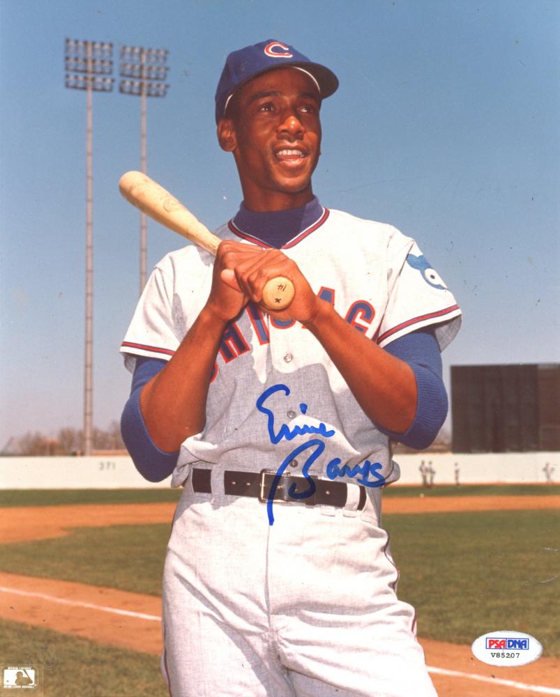 Ernie Banks Signed Cubs 8x10 Photo (PSA Hologram) at PristineAuction.com