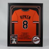 Cal Ripken Jr. Signed Orioles 35x43 Custom Framed Jersey Display (JSA COA) at PristineAuction.com