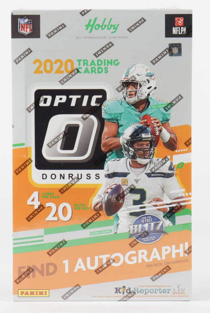 2020 Panini Donruss Optic Football Hobby Box with (20) Packs at PristineAuction.com