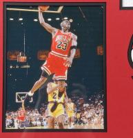 Michael Jordan Signed Bulls 35.5x43.5 Custom Framed Jersey (JSA LOA) at PristineAuction.com