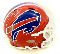 Josh Allen Signed Bills Full-Size Authentic On-Field Throwback Speed Helmet (Beckett COA) at PristineAuction.com