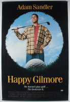 "Adam Sandler Signed ""Happy Gilmore"" 27x40 Original Movie Poster Print (Beckett COA) (See Description) at PristineAuction.com"