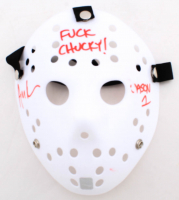 """Ari Lehman Signed """"Friday the 13th"""" Mask Inscribed """"F*** Chucky!"""" & """"Jason 1"""" (Lehman Hologram) (See Description) at PristineAuction.com"""