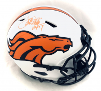 "Terrell Davis Signed Broncos Full-Size Authentic On-Field Lunar Eclipse Alternate Speed Helmet Inscribed ""HOF 17"" (Beckett COA) at PristineAuction.com"