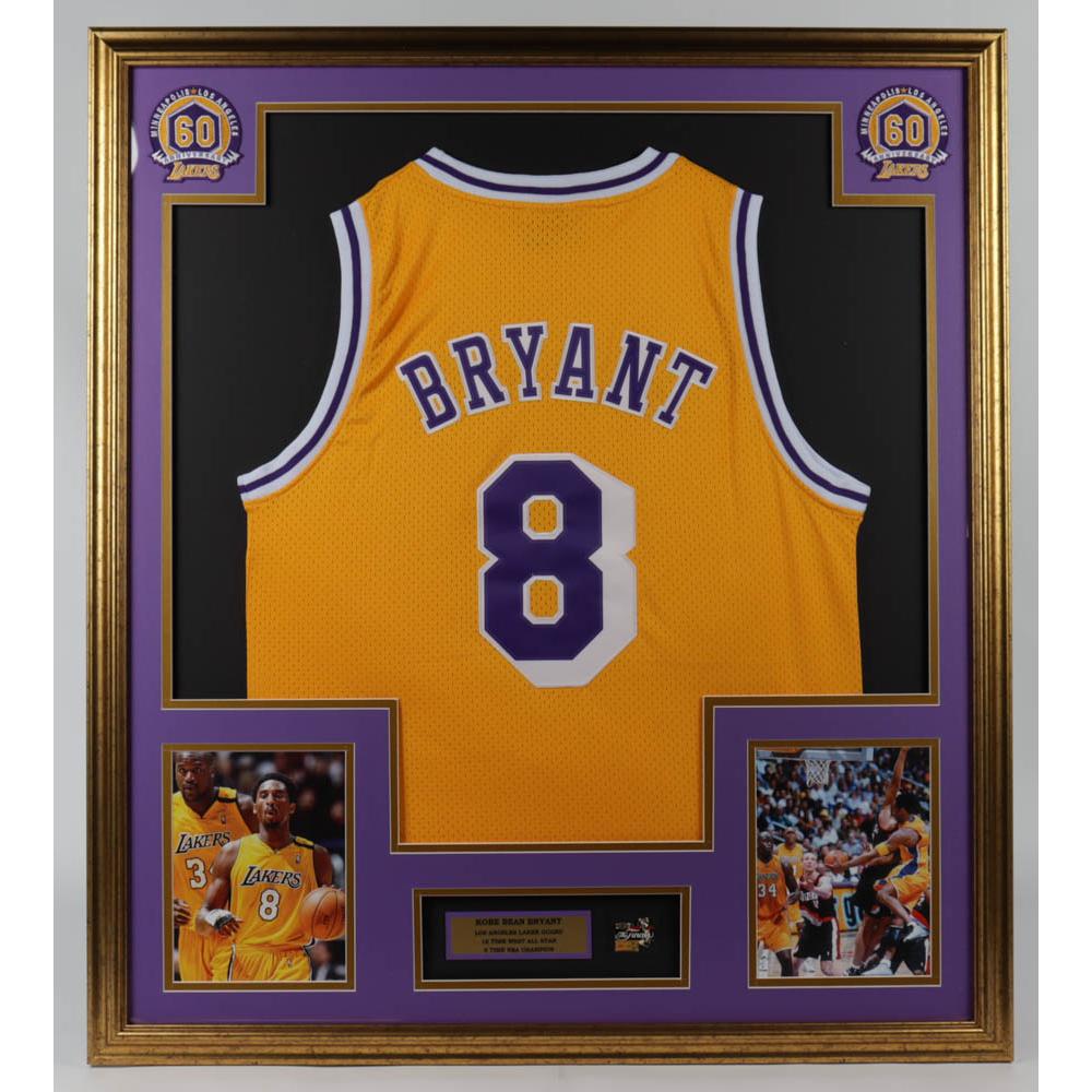 Kobe Bryant 32x36 Custom Framed Jersey Display with Lakers ...