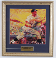 "LeRoy Neiman ""Mickey Mantle"" 14x15 Custom Framed Print Display (See Description) at PristineAuction.com"