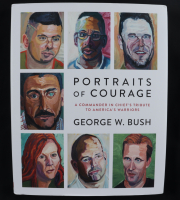 "George W. Bush Signed ""Portraits of Courage"" Hardcover Book (JSA COA) at PristineAuction.com"