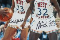 Magic Johnson & Kareem Abdul-Jabbar Signed All-Star 16x20 Photo (Beckett COA) at PristineAuction.com