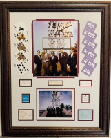 """The Rat Pack"" 26x32.5 Custom Framed Cut Display Signed by (5) with Joey Bishop, Frank Sinatra, Sammy Davis Jr., Peter Lawford & Dean Martin (JSA LOA & JSA COA) at PristineAuction.com"