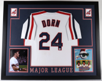 "Corbin Bernsen Signed ""Major League"" 35x43 Custom Framed Jersey Display (JSA COA) at PristineAuction.com"