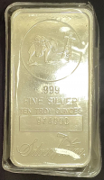 "10 Troy Oz .999 Fine Silver ""Silver Towne"" Bullion Bar at PristineAuction.com"