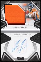 Jerry Jeudy 2020 Panini Playbook #206 Jersey Autograph (Panini Encapsulated) at PristineAuction.com