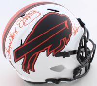 Jim Kelly, Thurman Thomas & Andre Reed Signed Bills Full-Size Lunar Eclipse Alternate Speed Helmet (Beckett COA) at PristineAuction.com