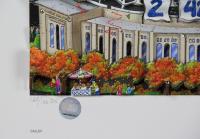 "Charles Fazzino Signed ""NY Yankees 2009 World Series Champions"" 23x30 LE Custom Framed Artist Enhanced 3-D Pop Art Serigraph Display (PA LOA) at PristineAuction.com"
