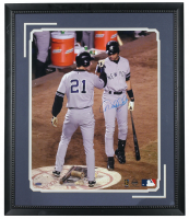 Derek Jeter Signed Yankees 22x26 Custom Framed Photo (Steiner COA) at PristineAuction.com