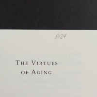 """Jimmy Carter Signed """"The Virtues of Aging"""" Paperback Book (JSA COA) at PristineAuction.com"""