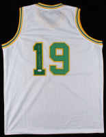 "Lenny Wilkens Signed Jersey Inscribed ""3x HOF"" (JSA COA) at PristineAuction.com"
