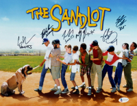 """The Sandlot"" 11x14 Photo Cast-Signed by (6) with Tom Guiry, Marty York, Shane Obedzinski, Victor DiMattia, Chauncey Leopard, Brandon Adams With (6) Character Inscriptions (Beckett COA) at PristineAuction.com"