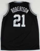 "Alvin Robertson Signed Jersey Inscribed ""86"" & ""DPOY"" (PSA Hologram) at PristineAuction.com"