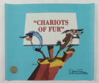 """Chuck Jones Signed """"Chariots of Fur"""" Sold Out Limited Edition 12x10 Animation Cel at PristineAuction.com"""