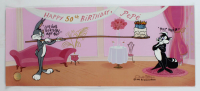 "Chuck Jones Signed ""Pepe's 50th Birthday"" Sold Out LE 10x25 Animation Cel with Hand Painted Color at PristineAuction.com"