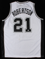 """Alvin Robertson Signed Jersey Inscribed """"86"""" & """"DPOY"""" (PSA COA) (See Description) at PristineAuction.com"""