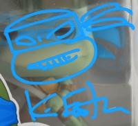 "Kevin Eastman Signed ""Teenage Mutant Ninja Turtles"" #16 Leonardo Funko Pop! Vinyl Figure With Hand-Drawn Sketch (Beckett COA) at PristineAuction.com"