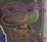 "Kevin Eastman Signed ""Teenage Mutant Ninja Turtles"" #17 Donatello Funko Pop! Vinyl Figure With Hand-Drawn Sketch (Beckett COA) at PristineAuction.com"