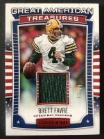Brett Favre 2017 Rookies & Stars Great American Treasures Jerseys #17 at PristineAuction.com